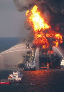 Explosion following the Blowout at the Macondo Well